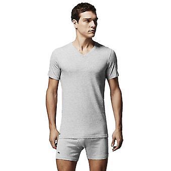 T-shirty Lacoste serek 3 Pack szary melanż