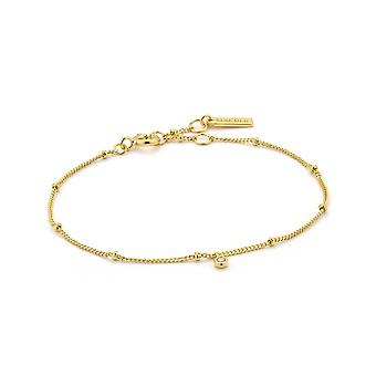 Bracelet de chaîne Ania Haie Gold Plated Sterling Silver 'Touch Of Sparkle Shimmer'