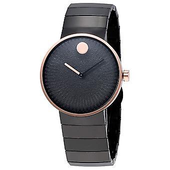 Movado Edge Black Stainless Steel Ladies Watch 3680026
