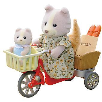 Sylvanian Familias época 2236 - ciclismo con madre