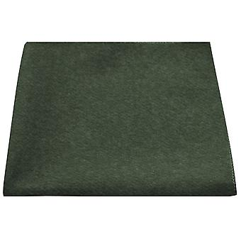 Luxury Hunter Green Donegal Tweed Pocket Square, Handkerchief