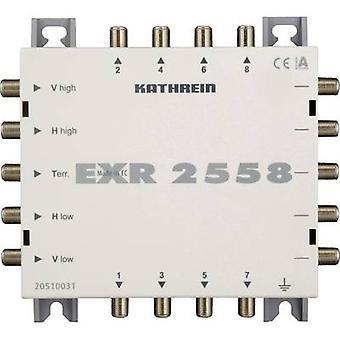 Kathrein EXR 2558 lör Cascade multiswitch ingångar (multiswitchar): 5 (4 lör/1 terrestrial) Nej. antal deltagare: 8