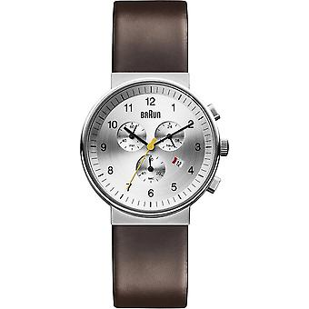 Braun classic chrono Japanese Quartz Analog Man Watch with BN0035SLBRG Cowskin Bracelet