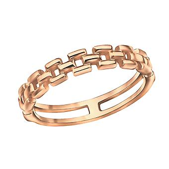 Chain - 925 Sterling Silver Plain Rings - W30391x