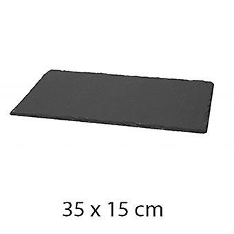 Ardoise Rektangulaire servering fad 35x15cm forfalskning Bordservice