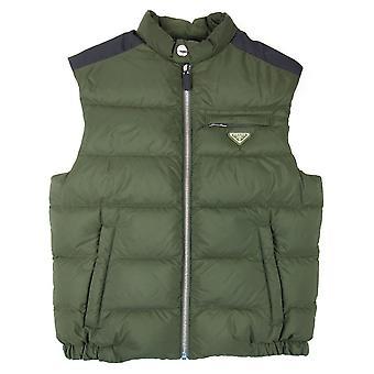 Prada Piumino nylon vest Olive/Nero