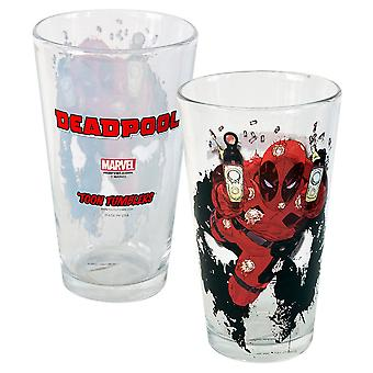 Deadpool Shooter Toon Tumbler 16 Unze Pint Glas