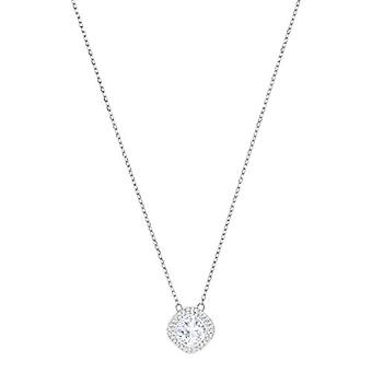 Swarovski Lattitude Halskette mit Damen Anhänger - Rodio Platte - Kristall - weiß