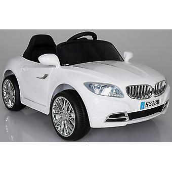 BMW Coupe Style Ride on Car 2x6V White
