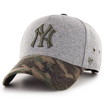 47 Brand Snapback Cap - MVP MELTON NY Yankees Gray Wood Camo