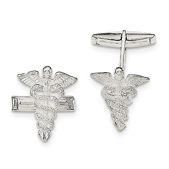 925 Sterling Silver Caducei Cuff Links Jewelry Gifts for Men