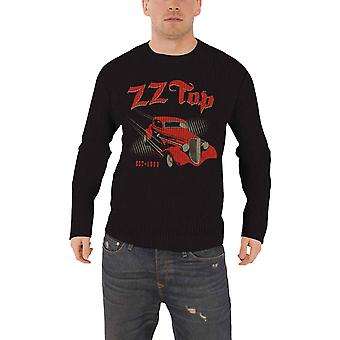 ZZ Top Jumper Sweater Eliminator band logo new Official Mens Black