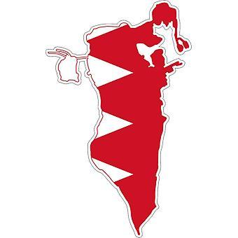 Aufkleber Aufkleber Adhesif Vinyl Auto Flagge Bahrain Karte