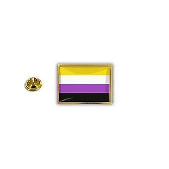 Pine PineS PIN rinta nappi PIN-apos; s metalli epoksi sateen kaari lippu Rainbow ei binary