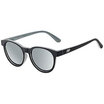 Dirty Dog Twisty Satin Opaque Sunglasses - Black/Silver