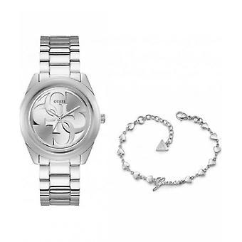 GUESS - Armbanduhr - Damen - UBS00005 - COMBO BOX G TWIST SIL SHN ME
