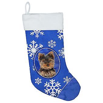 عطلة الشتاء الثلج جرو Yorkie/تخزين يوركشاير الكلب عيد الميلاد