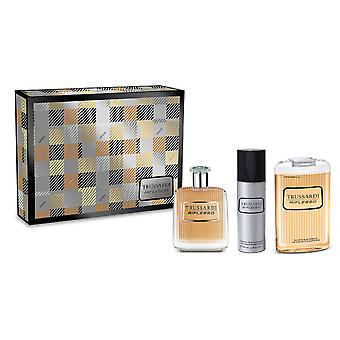 Trussardi Uomo Tweed viikon lopun lahja setti 50ml EDT + 30ml aftershave Balm + 30ml suihku geeli
