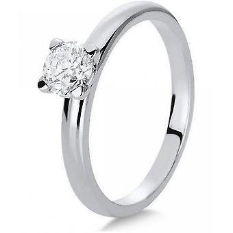 Diamantring-14K 585 wit goud-0,5 CT.