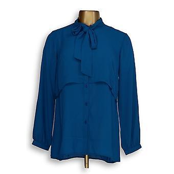 Joan Rivers Classics collectie vrouwen ' s top XXS gelaagde blouse blauw A283720