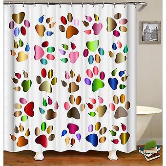 Tende doccia per zampe multicolori e artigli