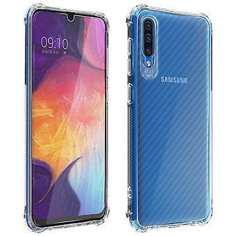 Samsung Galaxy A50 360° Premium Schutz-Set, mit Metallplättchen - Transparent