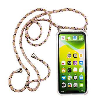Collier de téléphone pour Apple iPhone 11 Pro Max - Smartphone Necklace Case with Ribbon - Cord with Case to Hang in Pink