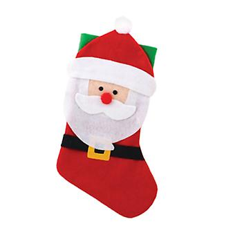 Seasons Greetings Kids Felt Santa Stocking