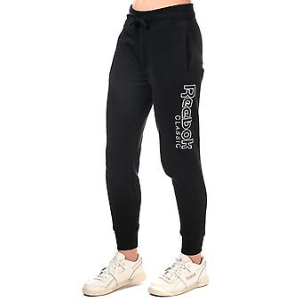 Womens Reebok Classics Graphic Pants In Black