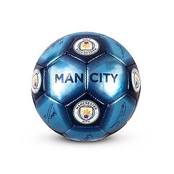 Manchester City FC underskrift fodbold