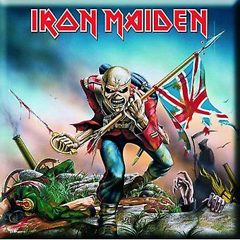 Iron Maiden Fridge Magnet The Trooper new Official 76mm x 76mm