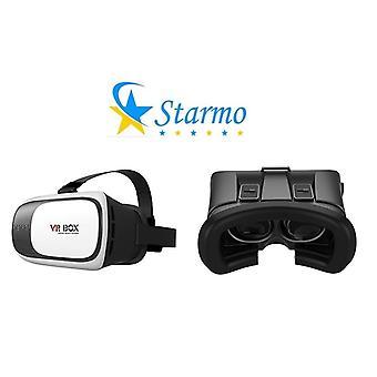 Starmo 3D VR Brille Box VR Kopfhörer Helm Videoanzeige und Spiele mit verstellbaren Schüler und Objektdesign Abstand passt Smartphones