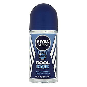 Nivea hombres 48h fresco kick anti-perspirant roll on 50ml (paquete de 3)