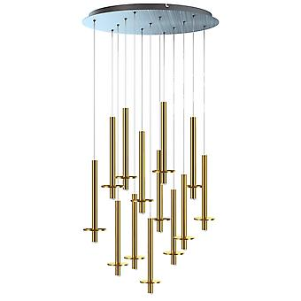 Draco 13 Mini Pendant Lighting Brass