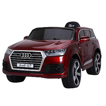 Kids Electric Car Audi Q7 SUV metallic Jeep JJ2188, leather seat, EVA tire music