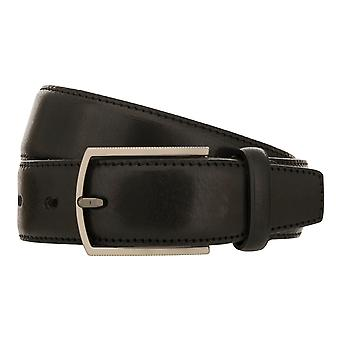 LLOYD Men's Belts Men's Belt Sem cinto de couro Full Cowhide Black 8429