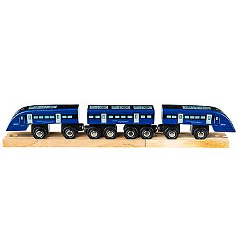 Bigjigs Rail Wooden High Speed Train Carriages Locomotive Engine