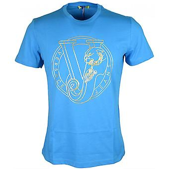 Versace Jeans Jersey Pluto Slim Fit T-shirt bleu
