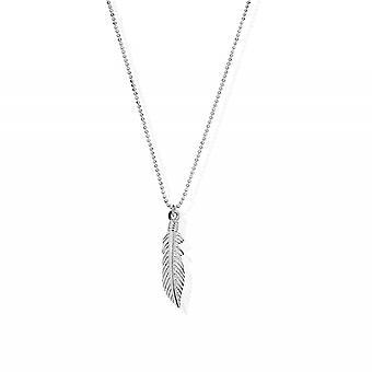 Chlobo SCDC2717 Women ' s diamantskurna kedja med fjäder hänge