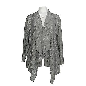 Alfani Femme-apos;s Plus Sweater Knit Open Cardigan Gray