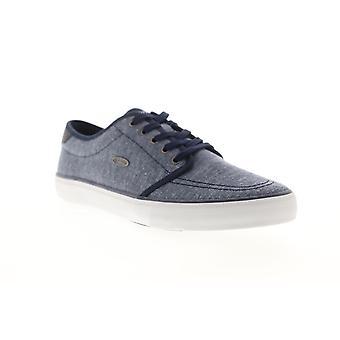 Lugz Rivington  Mens Blue Canvas Lace Up Low Top Sneakers Shoes