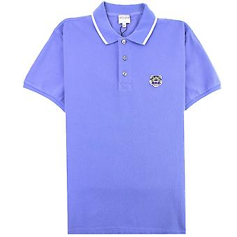 Kenzo Tiger Crest K Fit Polo Lilac