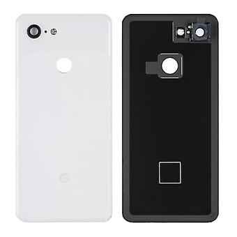Google Battery Cover pour Pixel 3 G013A White Clear White Battery Cover Spare Part Backcover Lid Battery