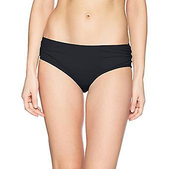 Carmen Marc Valvo Frauen's Bikini unten Badeanzug mit, massive schwarz, Größe klein