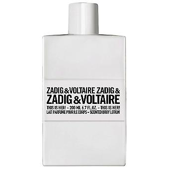 Zadig & Voltaire This Is Her Bodylotion 200 ml