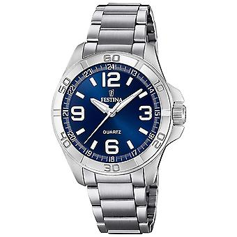 Festina Watches Quartz Analog Man Watch with Stainless Steel Bracelet F20434/2