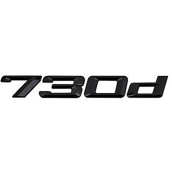 Gloss Black BMW 730d Car Badge Emblem Model Numbers Letters For 7 Series E38 E65 E66E67 E68 F01 F02 F03 F04 G11 G12