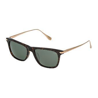 Dunhill SDH018 722P Shiny Dark Havana/Polarised Grey-Green Sunglasses
