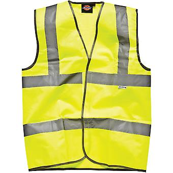 Dickies carretera seguridad Hi Vis chaleco / chaqueta de ropa de trabajo para hombre