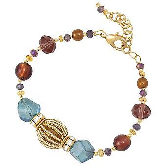 Colección Eterna Amalfi Amatista y Aquamarine Veneciana Pulsera de cristal de Murano